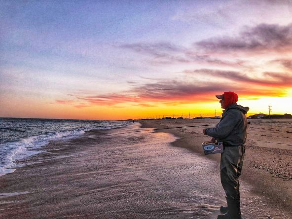 Dusk is a magic time for stripers in the surf. November has been great fishing for school bass in the 3lb to 5lb with the occasional double digits hanging around.
