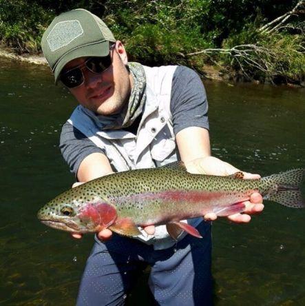 Trout fishing in brazilian highlands