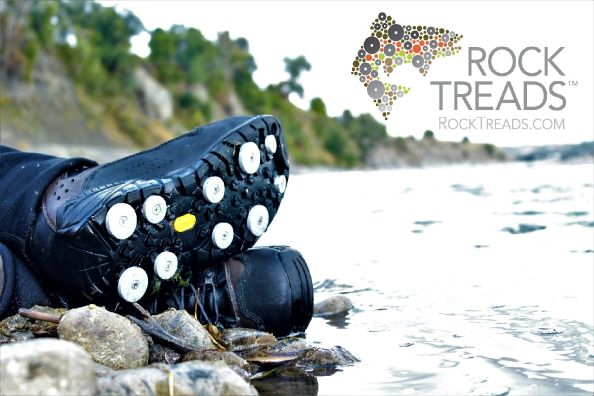 Rock Treads- the ONLY Aluminum Traction you can add to ANY boot or shoe!