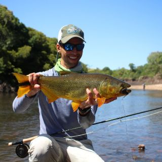 Sergio from Sao Paulo with the Dorado plus in a wolf fish day.